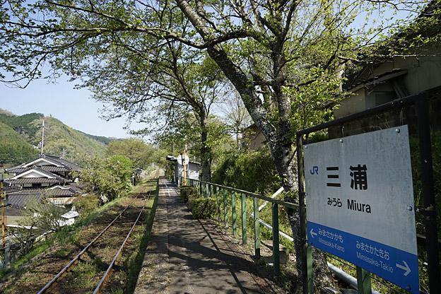 JR 因美線 三浦駅